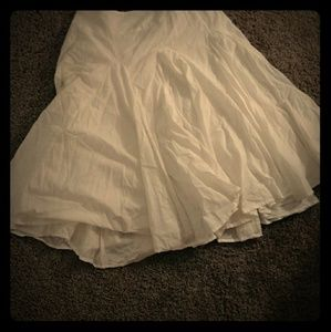 White Comfy Cotton Skirt